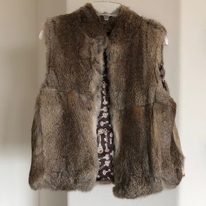 What Goes Around Comes Around rabbit fur vest